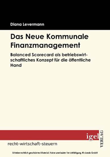 Das Neue Kommunale Finanzmanagement - Blick ins Buch