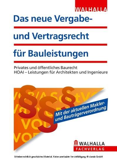 Das neue Vergabe- und Vertragsrecht für Bauleistungen - Blick ins Buch