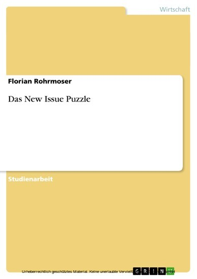 Das New Issue Puzzle - Blick ins Buch