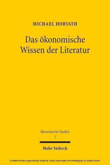 Das ökonomische Wissen der Literatur - Blick ins Buch