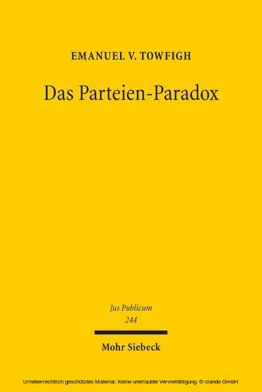 Das Parteien-Paradox - Blick ins Buch