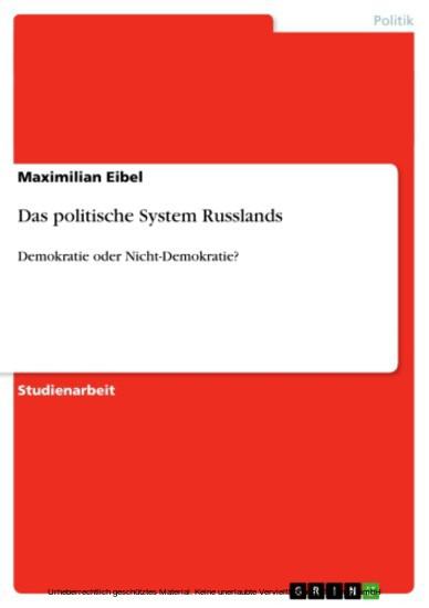 Das politische System Russlands - Blick ins Buch