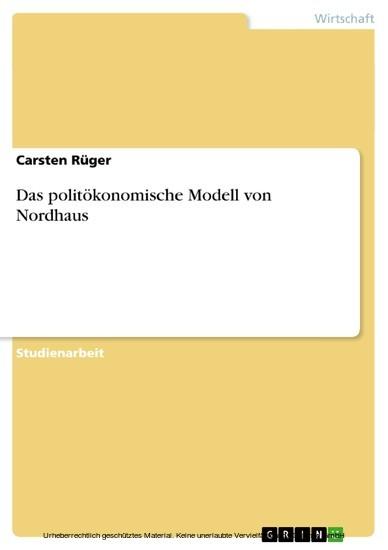 Das politökonomische Modell von Nordhaus - Blick ins Buch