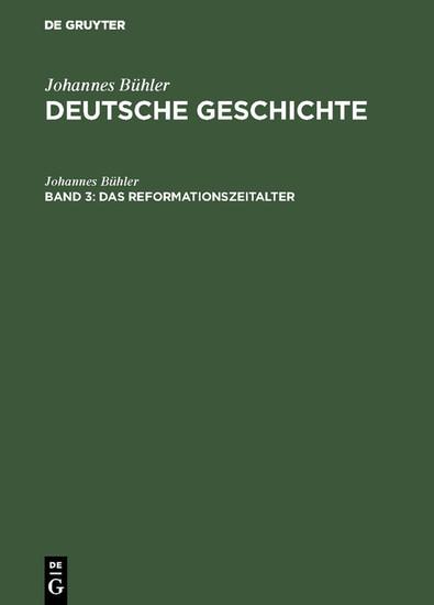 Das Reformationszeitalter - Blick ins Buch