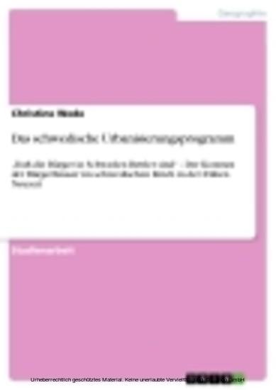Das schwedische Urbanisierungsprogramm - Blick ins Buch