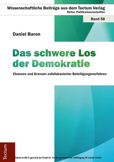Das schwere Los der Demokratie - Blick ins Buch