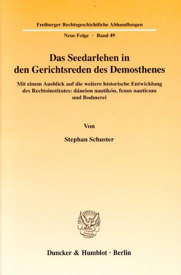 Das Seedarlehen in den Gerichtsreden des Demosthenes. - Blick ins Buch
