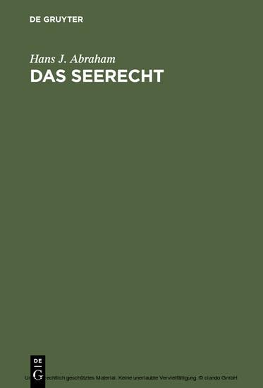 Das Seerecht - Blick ins Buch