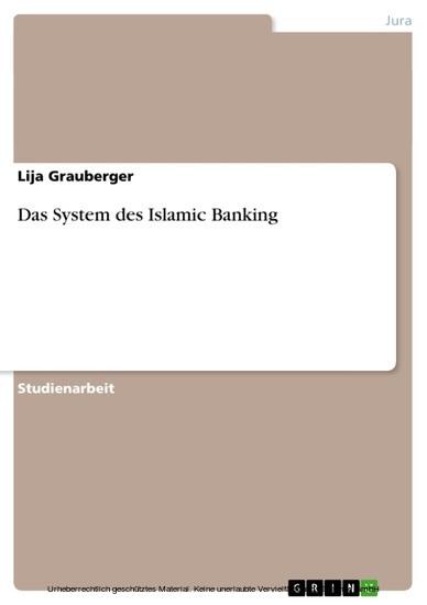 Das System des Islamic Banking - Blick ins Buch