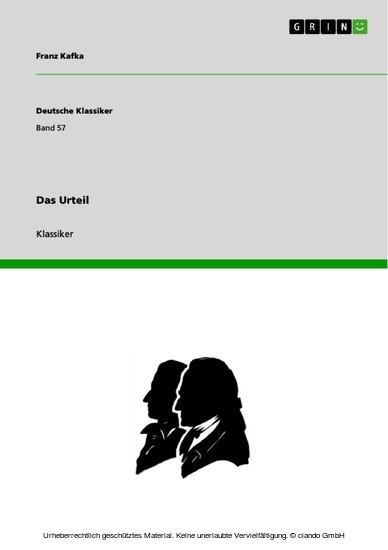 Das Urteil - Blick ins Buch