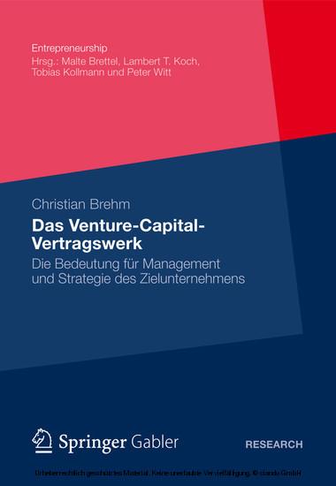 Das Venture-Capital-Vertragswerk - Blick ins Buch