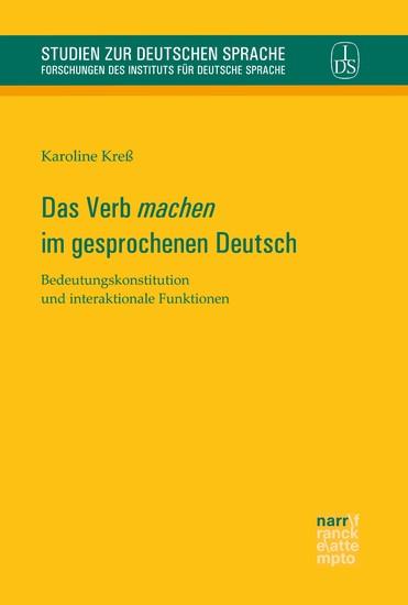 Das Verb 'machen' im gesprochenen Deutsch - Blick ins Buch