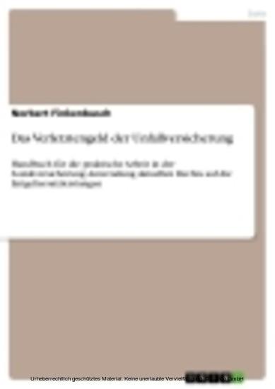 Das Verletztengeld der Unfallversicherung - Blick ins Buch