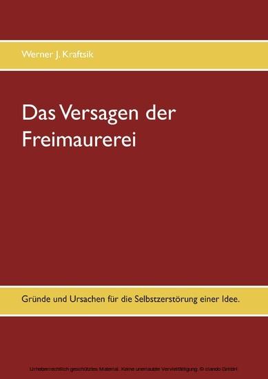 Das Versagen der Freimaurerei - Blick ins Buch