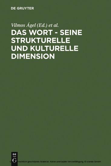 Das Wort - Seine strukturelle und kulturelle Dimension - Blick ins Buch