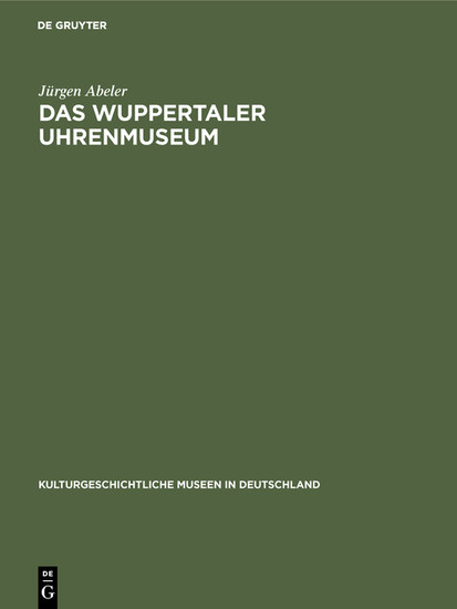Das Wuppertaler Uhrenmuseum - Blick ins Buch