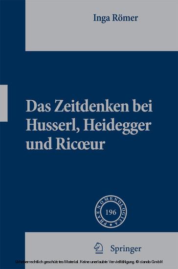 Das Zeitdenken bei Husserl, Heidegger und Ricoeur - Blick ins Buch