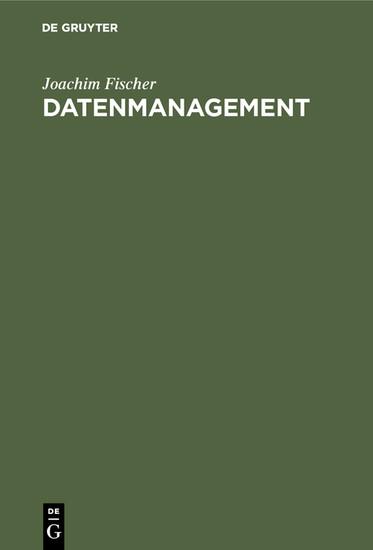 Datenmanagement - Blick ins Buch