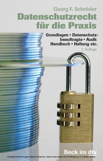 Datenschutzrecht für die Praxis - Blick ins Buch