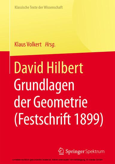 David Hilbert - Blick ins Buch