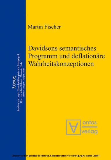 Davidsons semantisches Programm und deflationäre Wahrheitskonzeptionen - Blick ins Buch