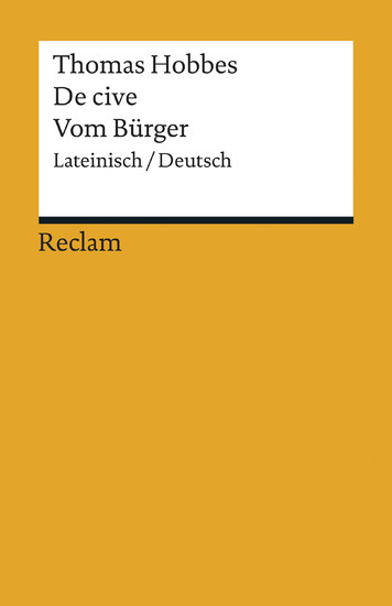De cive / Vom Bürger - Blick ins Buch