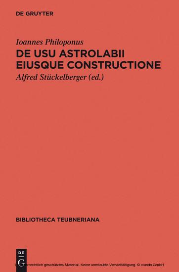 De usu astrolabii eiusque constructione / Über die Anwendung des Astrolabs und seine Anfertigung - Blick ins Buch