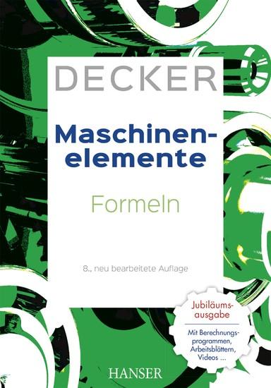 Decker Maschinenelemente - Formeln - Blick ins Buch