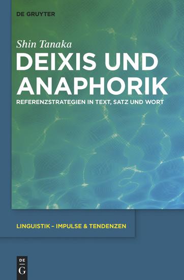 Deixis und Anaphorik - Blick ins Buch