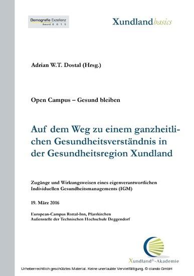 Auf dem Weg zu einem ganzheitlichen Gesundheitsverständnis in der Gesundheitsregion Xundland - Blick ins Buch