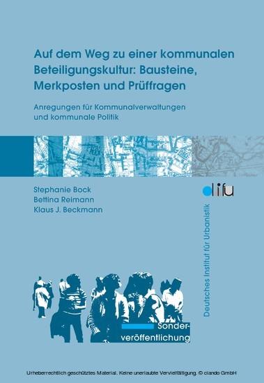 Auf dem Weg zu einer kommunalen Beteiligungskultur: Bausteine, Merkposten und Prüffragen - Blick ins Buch
