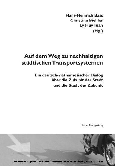 Auf dem Weg zu nachhaltigen städtischen Transportsystemen - Blick ins Buch