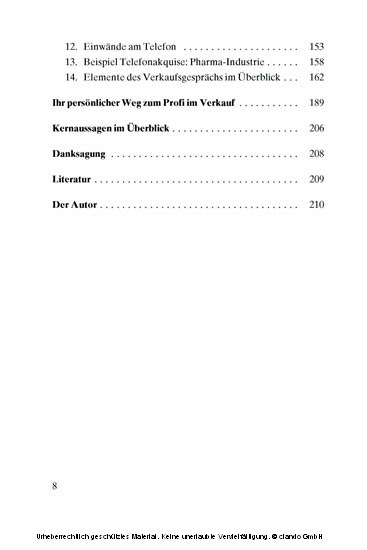 Auf dem Weg zum Profi im Verkauf - Blick ins Buch