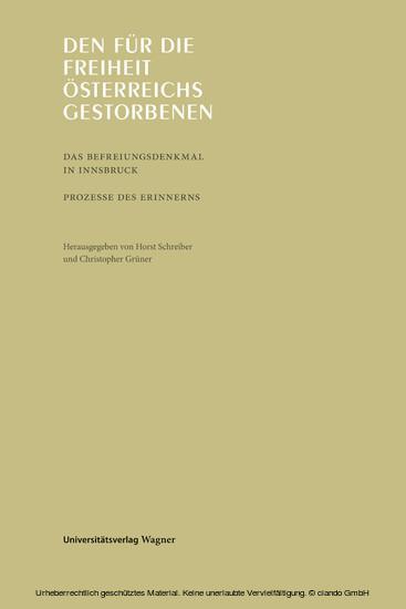 Den für die Freiheit Österreichs gestorbenen - Blick ins Buch