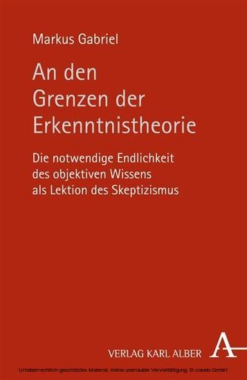 An den Grenzen der Erkenntnistheorie - Blick ins Buch