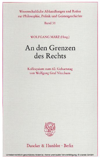 An den Grenzen des Rechts. - Blick ins Buch