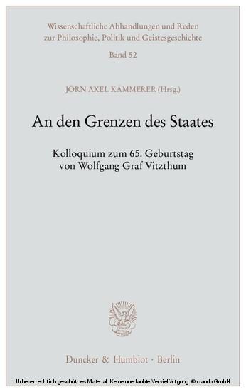An den Grenzen des Staates. - Blick ins Buch