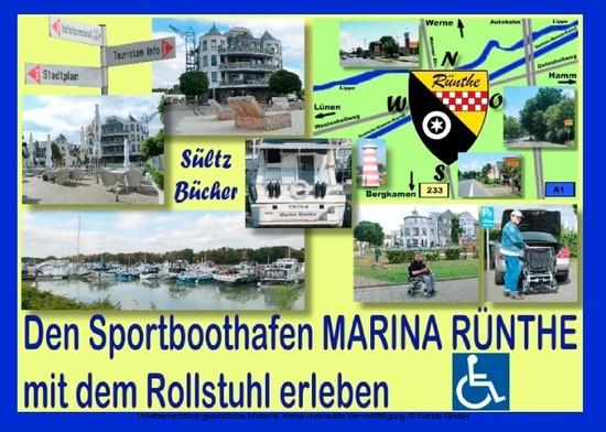 Den Sportboothafen Marina Rünthe mit dem Rollstuhl erleben - Blick ins Buch