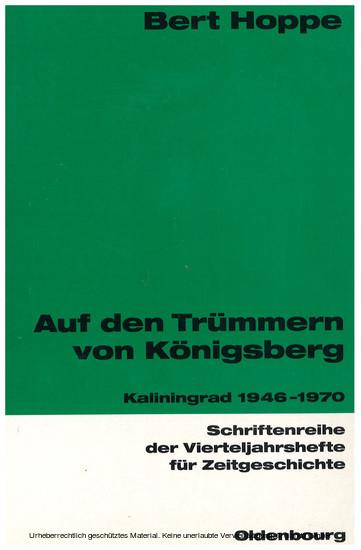 Auf den Trümmern von Königsberg - Blick ins Buch