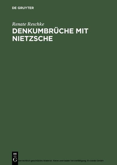 Denkumbrüche mit Nietzsche - Blick ins Buch