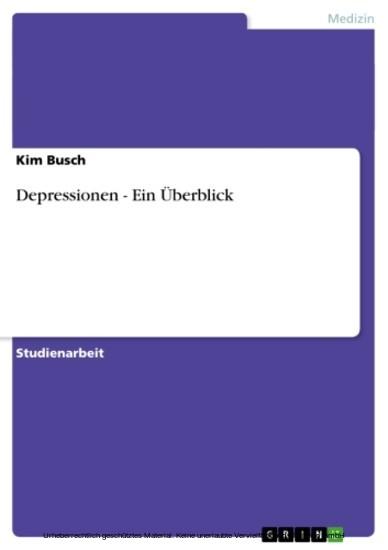 Depressionen - Ein Überblick - Blick ins Buch