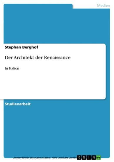 Der Architekt der Renaissance - Blick ins Buch