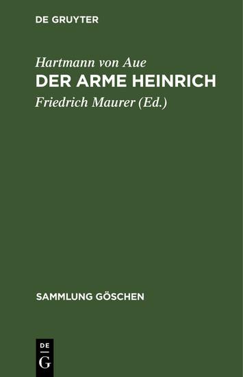 Der arme Heinrich - Blick ins Buch