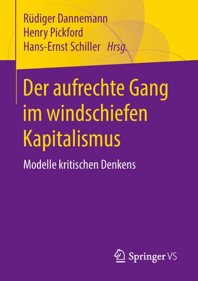 Der aufrechte Gang im windschiefen Kapitalismus - Blick ins Buch