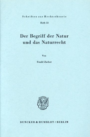 Der Begriff der Natur und das Naturrecht. - Blick ins Buch
