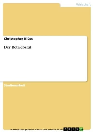 Der Betriebsrat - Blick ins Buch