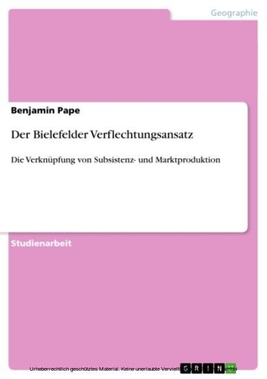Der Bielefelder Verflechtungsansatz - Blick ins Buch