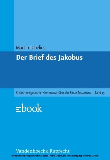 Der Brief des Jakobus - Blick ins Buch