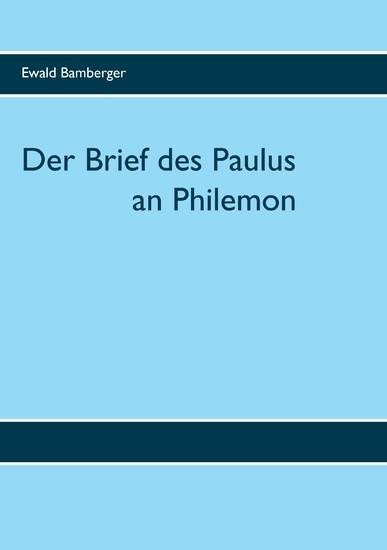 Der Brief des Paulus an Philemon - Blick ins Buch