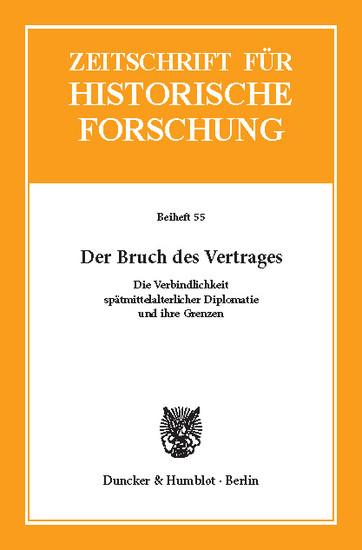 Der Bruch des Vertrages. - Blick ins Buch